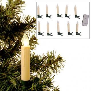 LED Weihnachtsbaumkerzen 10er-Set Christbaumkerzen kabellos Baumbeleuchtung