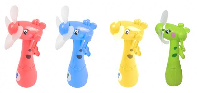 Kinder Mini-Ventilator Giraffe mit Wasserzerstäuber Handventilator Sprühflasche
