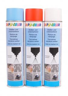 Dupli-Color Markierungsspray 0, 6l Straßenmarkierer Linienmarkierer blau rot weiß