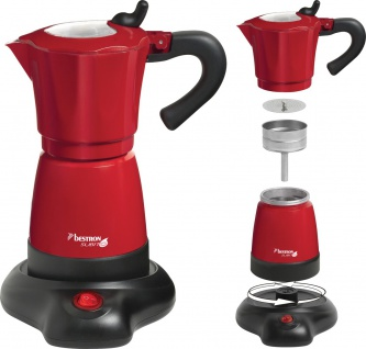 bestron Espressokocher AES 480 Rot Aes480