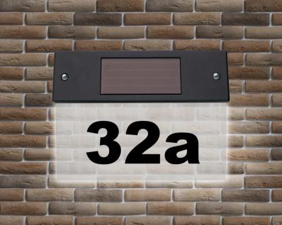 LED-Solar-Hausnummerlicht Beleuchtung Hausnummernleuchte kaltweiß