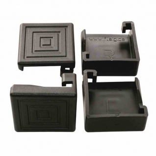 Bodenschoner-Set zu Festzeltgarnituren 12er Set, Kunststoff, schwarz