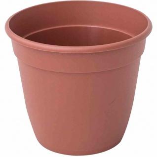 Standard-Pflanztopf 14 x 12, 1 cm, terracotta Rundes Kunststoffgefäß mit Bodenlöchern