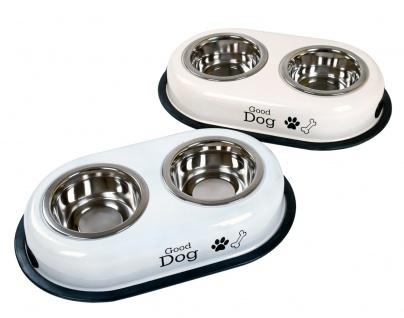 Hundefutterstation Futterstation Hundenapf Futternapf Napf Trinknapf Doppelnapf