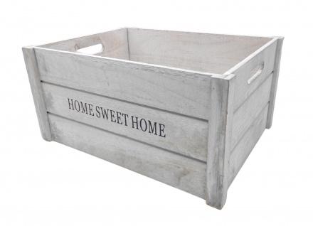 Vivess Deko-Holzkiste 40x30x20cm Holzbox Aufbewahrungsbox Dekokiste Shabby