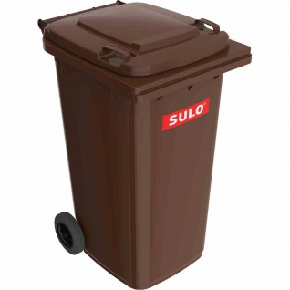 Kunststoff-Müllgroßbehälter braun 240 l Kunststoff