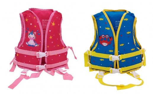 Kinder Schwimmweste 18-30kg Schwimmhilfe Auftriebhilfe Einhorn Krabbe pink blau