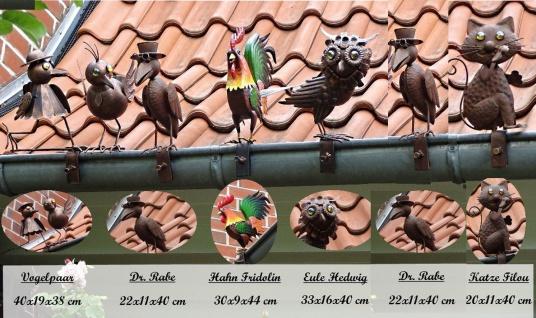 Dachrinnenfiguren 6er-Set Dachschmuck Zaunfigur Dachfigur Zaunschmuck Gartendeko