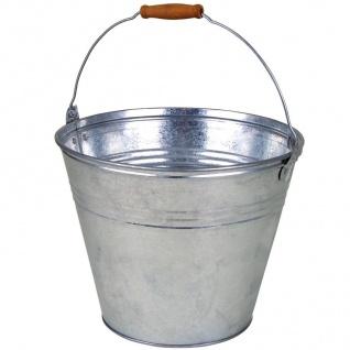 Zinkeimer 10L mit Holzgriff Wassereimer Blecheimer Gartendeko Pflanzkübel Blumen - Vorschau 2