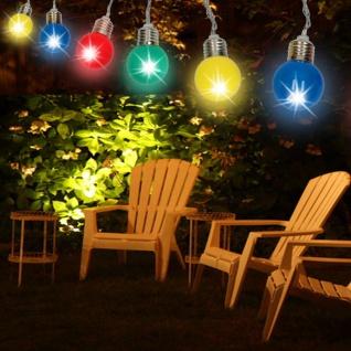 LED Lichterkette bunt 10 Glühbirnen Partylichterkette Partydeko Partylicht - Vorschau 2