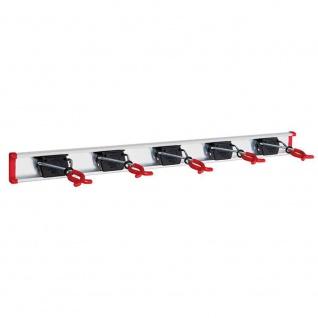 Geräteleiste 0, 75m 5 Gerätehaltern Hakenleisten Wandleisten Befestigung Geräte