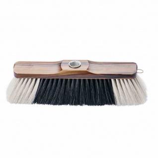 Zimmerbesen Mischung braun lackiert 29 cm weißer Bart