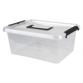 Box-One 12, 5 L Aufbewahrungsbox mit Deckel Tragegriff Clipverschlüsse Ordnung - Vorschau 2