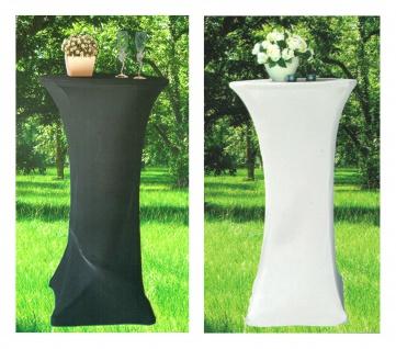 Stretch-Stehtischhusse Ø 60cm Tischdecke Bezug Bistrotisch Bartisch Partytisch