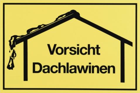 """METAFRANC SCHILD Kennzeichnungsschild ,, Vorsicht Dachlawinen"""" 500320 Vorsicht Dachlawine"""