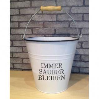 Deko Eimer 7L weiß Putzeimer Wassereimer Metalleimer Blecheimer Vintage Retro - Vorschau 3