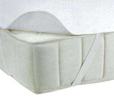 Molton-Matratzenauflage 150x200cm Matratzenschoner Matratzenschutz 4 Eckgummis
