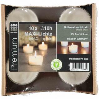 Maxi-Lichte 10 h 10 Stück transparenter Cup