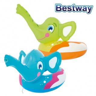 Bestway Schwimmring Elefant mit Sprührüssel Schwimmreifen Schwimmhilfe Badering