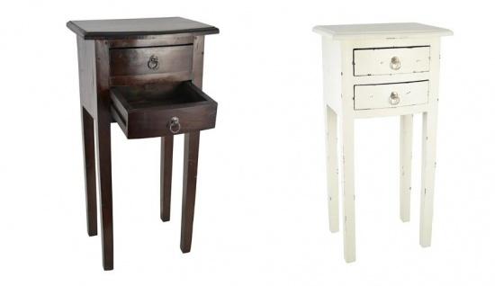 Beistelltisch mit 2 Schubladen Mahagoni Nachtschrank Nachttisch Telefontisch