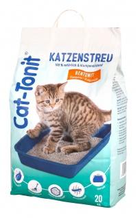 Cat Tonit Katzenstreu 20kg Klumpstreu Haustierstreu Einsteu Streu Haustier