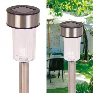 Solar-Gartenleuchten aus Edelstahl 10er-Set Solarlampe Gartenlampe Außenleuchte