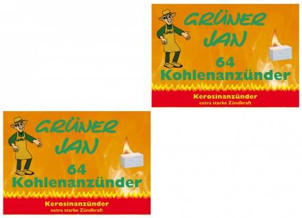 2er Set Grüner Jan Kohleanzünder Grillkohleanzünder Kaminanzünder Ofenanzünder