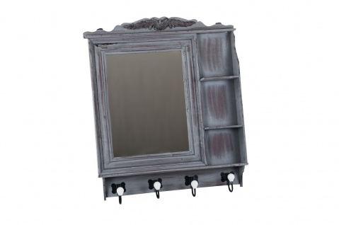 Vintage Garderobe Spiegel Hakenleiste Flurgarderobe Kleiderhaken Wandgarderobe - Vorschau 4