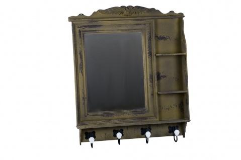 Vintage Garderobe Spiegel Hakenleiste Flurgarderobe Kleiderhaken Wandgarderobe - Vorschau 2