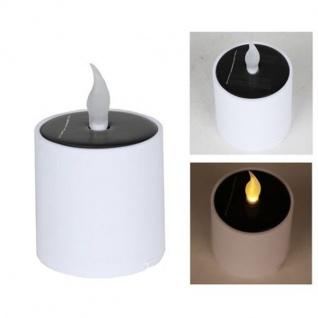 LED-Kerze flackernd Solarkerze Gartenkerze Stumpenkerze Deko warmweiß 7, 5x11, 5cm