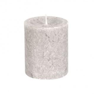 Diamond Candles Stumpenkerze hellgrau 70x80 mm Wachskerze Deko Wachs Kerze