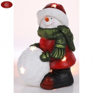 Schneemann 34, 5cm Teelichthalter Weihnachtsdeko Winterdeko Gartendeko Dekofigur