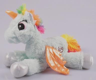 LED Einhorn mit Farbwechsel 30cm Unicorn Kuscheltier Plüschtier Stofftier Kinder - Vorschau 3