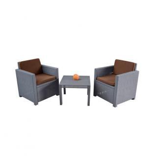 Lounge 4er Auflagen-Set cappuccino Sitzauflage Sesselauflage Sitzpolster Kissen