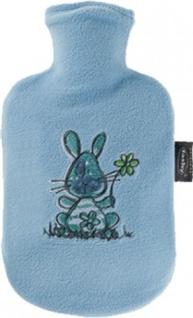 fashy WÄRMFLASCHE Thermoplastische Kinderwärmflasche 650551 Flauschb.0.8 Blau