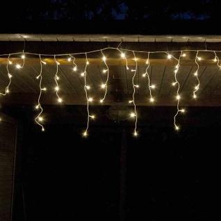LED-Eisregen-Lichterkette 12 Meter 480 LED warmweiß Weihnachtsdeko Garten Balkon