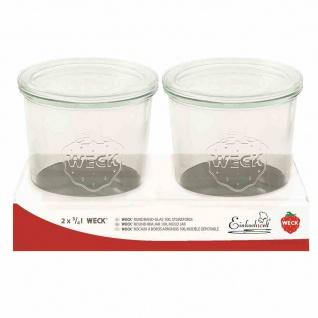 Sturzformglas 2x3/4l Einkochen Einweckglas Einwecken Vorrat Haltbarmachen Kochen