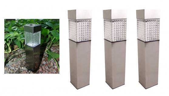 3x Solar Gartenwegeleuchte 27, 7cm LED Gartenlampe Solarleuchte Außenleuchte Deko