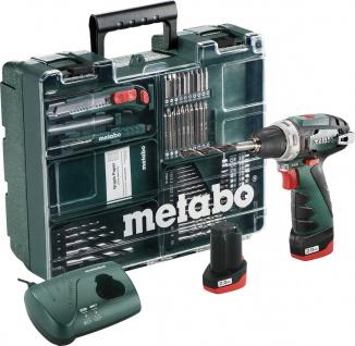 """metabo AKKUBOHRSCHRAUBER 10, 8-Volt-Akku-Bohrschrauber LI-ION ,, PowerMaxx BS Basic Set"""" 880 Powermaxx Set"""