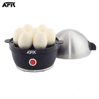AFK Edelstahl Eierkocher für 1-7 Eier Kocher Dampfgarer Messbecher Eierstecher
