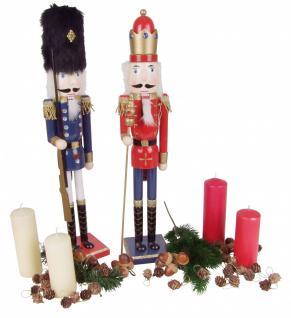 Holz-Nussknacker 61cm Weihnachtsdeko Weihnachten Deko Nuss Knacker König Husar