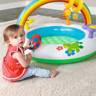 Spielcenter Rainbow Planschbecken Kinderpool Spielbogen Spieltrainer Babypool - Vorschau 4