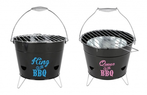 Grilleimer Ø28cm Campinggrill Picknickgrill Eimergrill Partygrill Geschenk Grill
