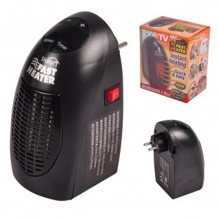 Starlyf® Fast Heater tragbare Miniheizung 400 Watt schwarz für Steckdose neu