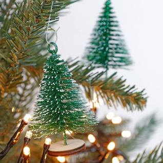 Weihnachtsbaum-Anhänger Tannenbaum 3er-Set 8, 5cm Weihnachtsdeko Winterdeko Tanne