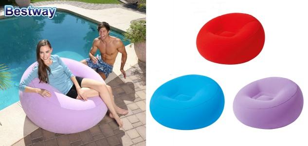 Bestway Aufblasbarer Sessel Inflate-a-chair Sitzsack Mega Lounge Luft Outdoor