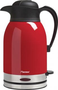 bestron Wasserkocher ATW 1600 Wasser -kocher Rot