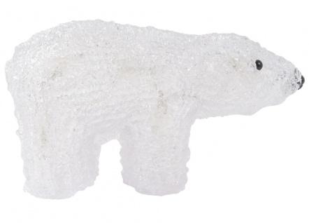 LED Dekofigur Eisbär Weihnachtsdeko Tierfigur Dekoleuchte Tischdeko Fensterdeko