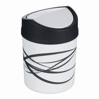 Tischabfallbehälter mit Schwingdeckel granit