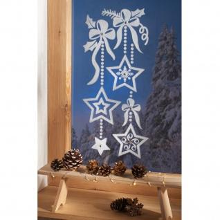 Fensterbild Sternenmotiv Weihnachtsdekoration Fensterdeko Winterdeko winterlich